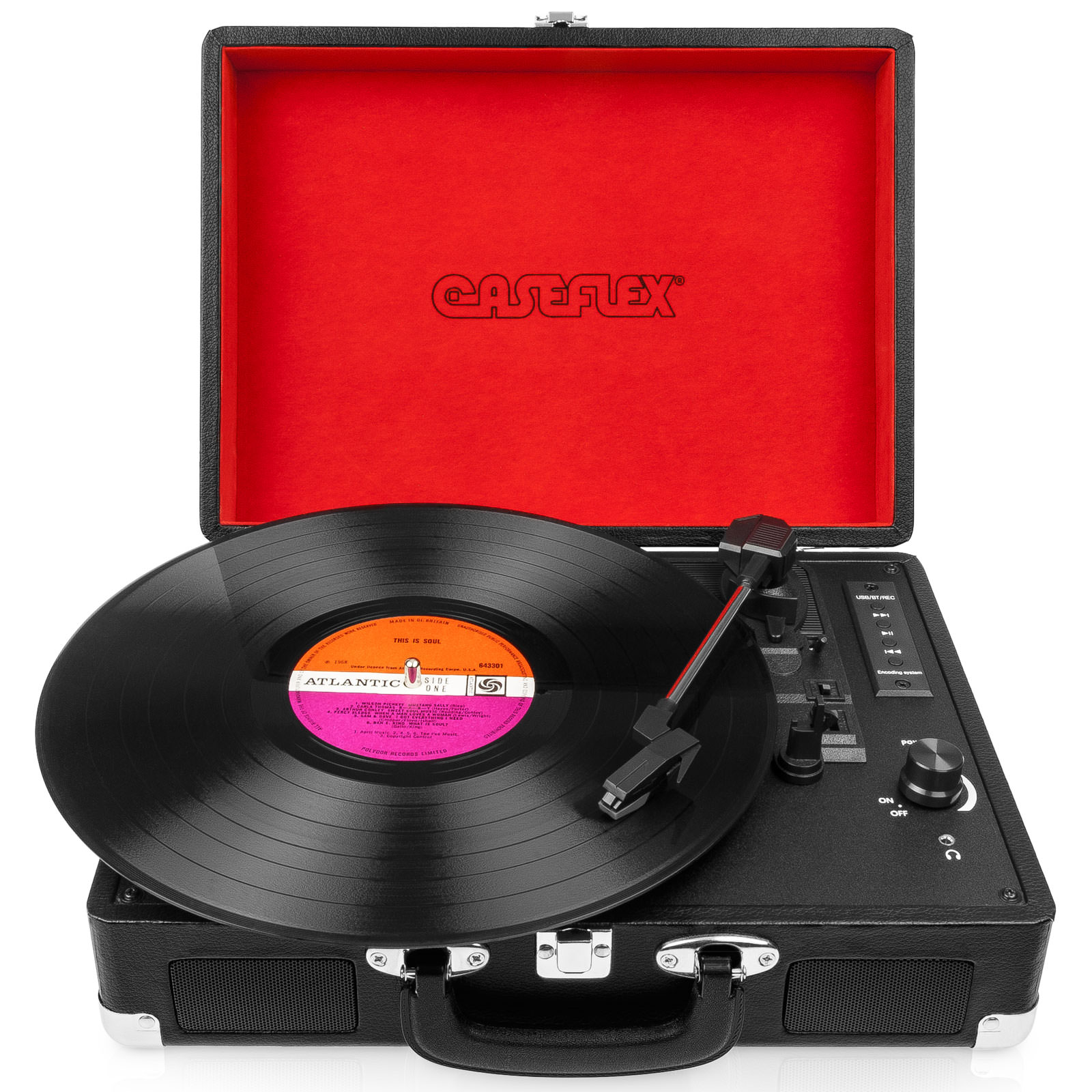 Caseflex Vinyl Record Player Briefcase Recorder Amp Mp3
