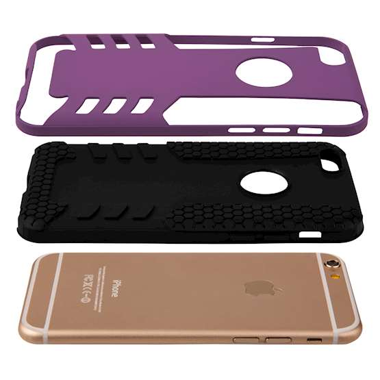 Caseflex iPhone 6 / 6s Border Combo Case - Purple