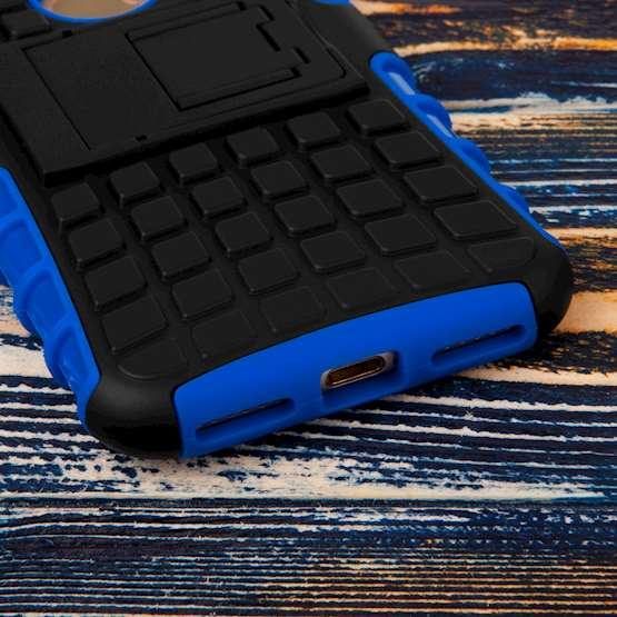 Caseflex iPhone 7 Kickstand Combo Case - Blue