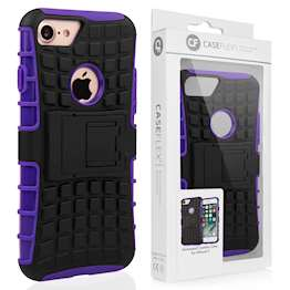 Caseflex iPhone 7 Kickstand Combo Case - Purple (Retail Box)