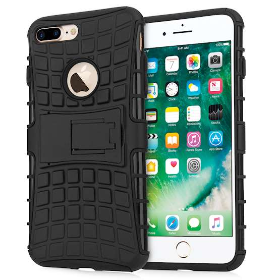 Caseflex iPhone 7 Plus Kickstand Combo Case - Black