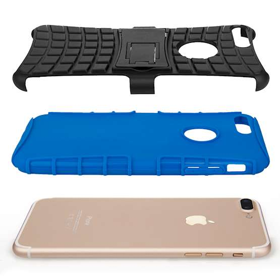 Caseflex iPhone 7 Plus Kickstand Combo Case - Blue