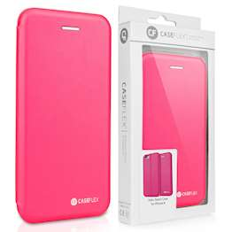 Caseflex iPhone 6 and 6s Leather-Effect Embossed Stand Wallet - Pink