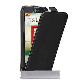 Caseflex LG L90 Real Leather Flip Case - Black