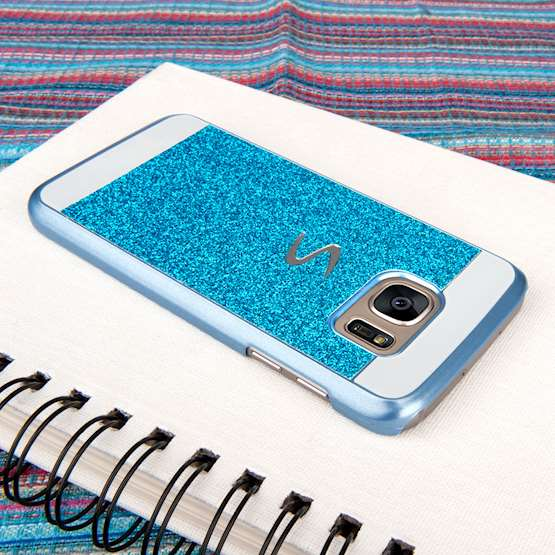 Caseflex Samsung Galaxy S7 Flash Diamond Case - Blue
