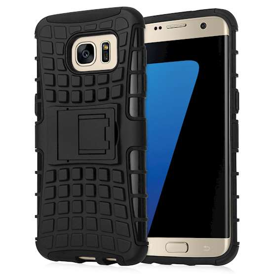 Caseflex Samsung Galaxy S7 Edge Kickstand Combo Case - Black (Retail Box)