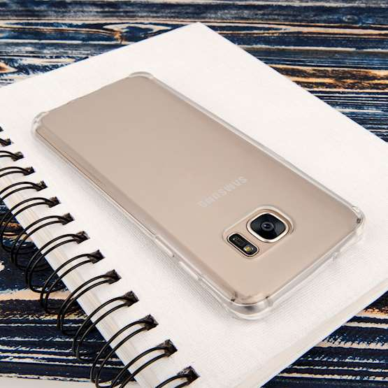 Caseflex Samsung Galaxy S7 TPU Gel Case - Clear