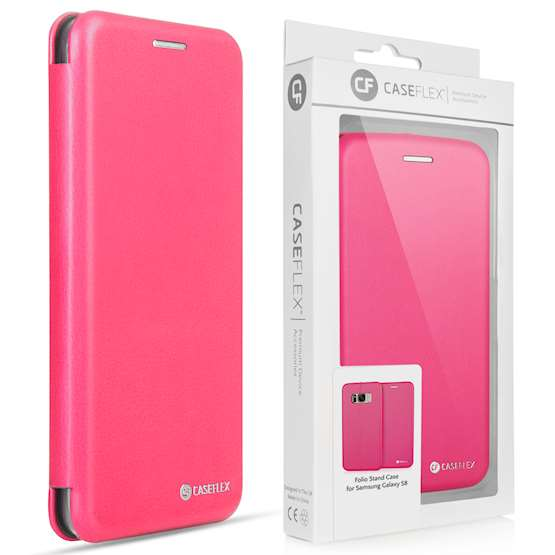 Caseflex Samsung Galaxy S8 Snap Wallet Case - Pink (Retail Box)