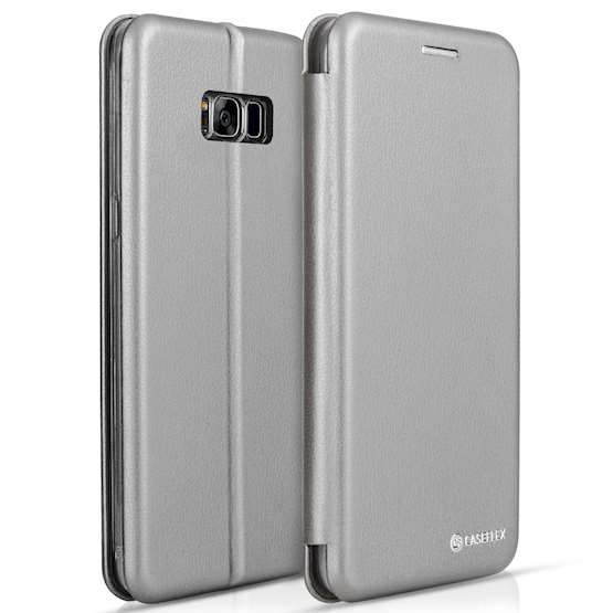 Caseflex Samsung Galaxy S8 Plus Snap Wallet Case - Grey (Retail Box)
