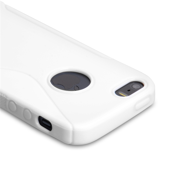 Caseflex iPhone 5-5S S-Line Gel Case - White