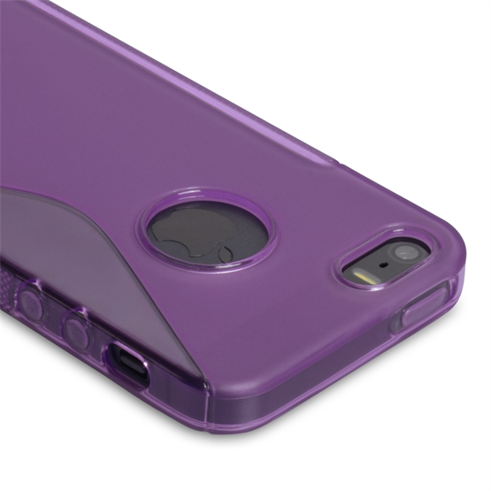 Caseflex iPhone SE S-Line Gel Case - Purple