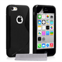 Caseflex iPhone 5c Silicone Gel S-Line Case - Black