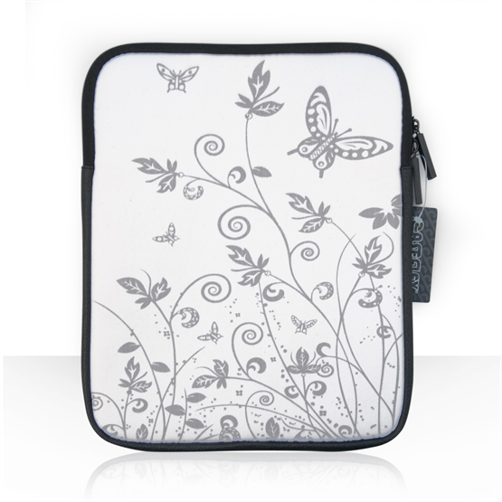Caseflex iPad 1 / 2 / 3 / 4 and Air Tablet Butterfly Case - White