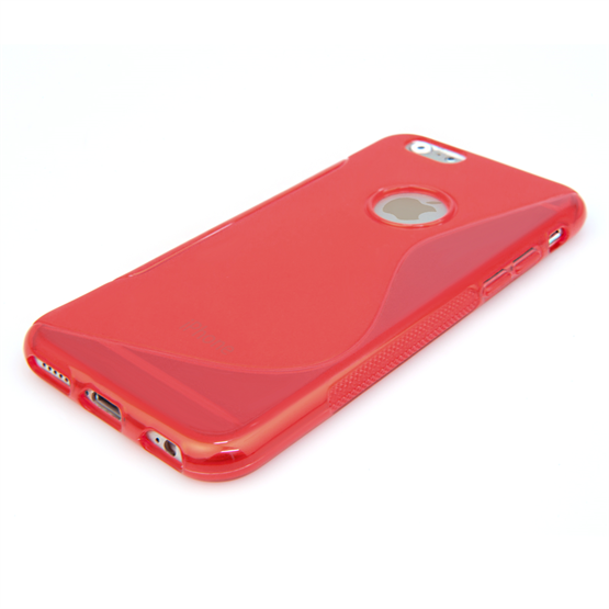 Caseflex iPhone 6 and 6s Silicone Gel S-Line Case - Red