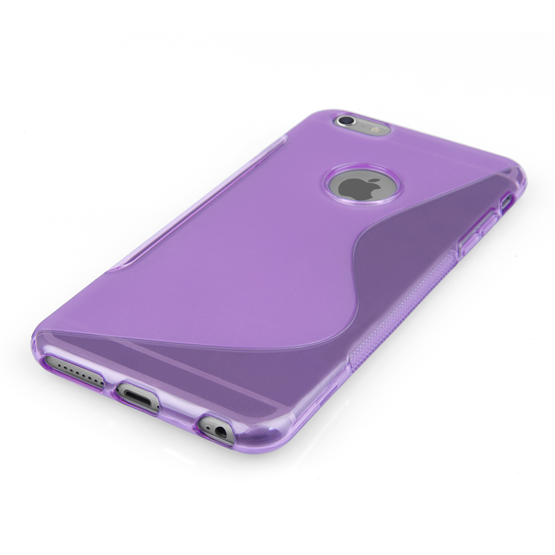 Caseflex iPhone 6 Plus and 6s Plus Silicone Gel S-Line Case - Purple