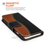 Caseflex iPhone 6  and 6s Premium Real Leather S-Line Stand Wallet - Black/Brown