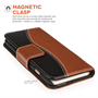 Caseflex Premium iPhone 6 and 6s Genuine Leather Stand Wallet - Black