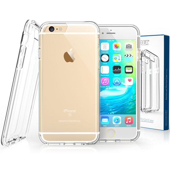 Caseflex iPhone 6 / 6s Plus  Reinforced TPU Gel Case - Clear