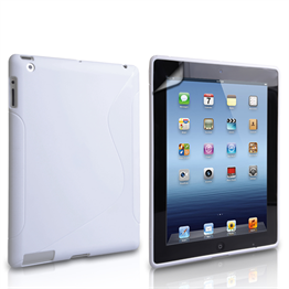 Caseflex Apple iPad Mini 2, 3 S-Line Gel Case - White