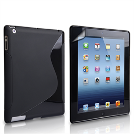 Caseflex Apple iPad Mini 2, 3 S-Line Gel Case - Black