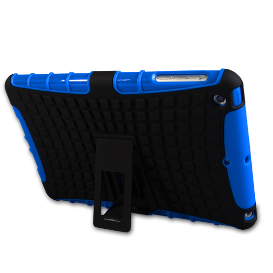 Caseflex iPad 2, 3, 4 Tough Stand Cover - Blue