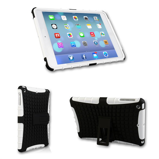 Caseflex iPad 2/3 and 4 Tough Stand Cover - White