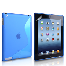 Caseflex Apple iPad Mini 2, 3 S-Line Gel Case - Blue