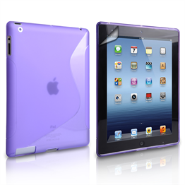 Caseflex Apple iPad Mini 2, 3 S-Line Gel Case - Purple
