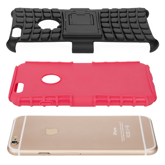 Caseflex iPhone 6 / 6s Kickstand Combo Case - Hot Pink