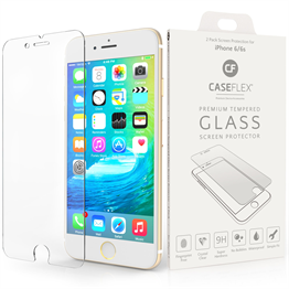 Caseflex iPhone 6 and 6s Glass Screen Protector X 2 - Clear (Retail Box)