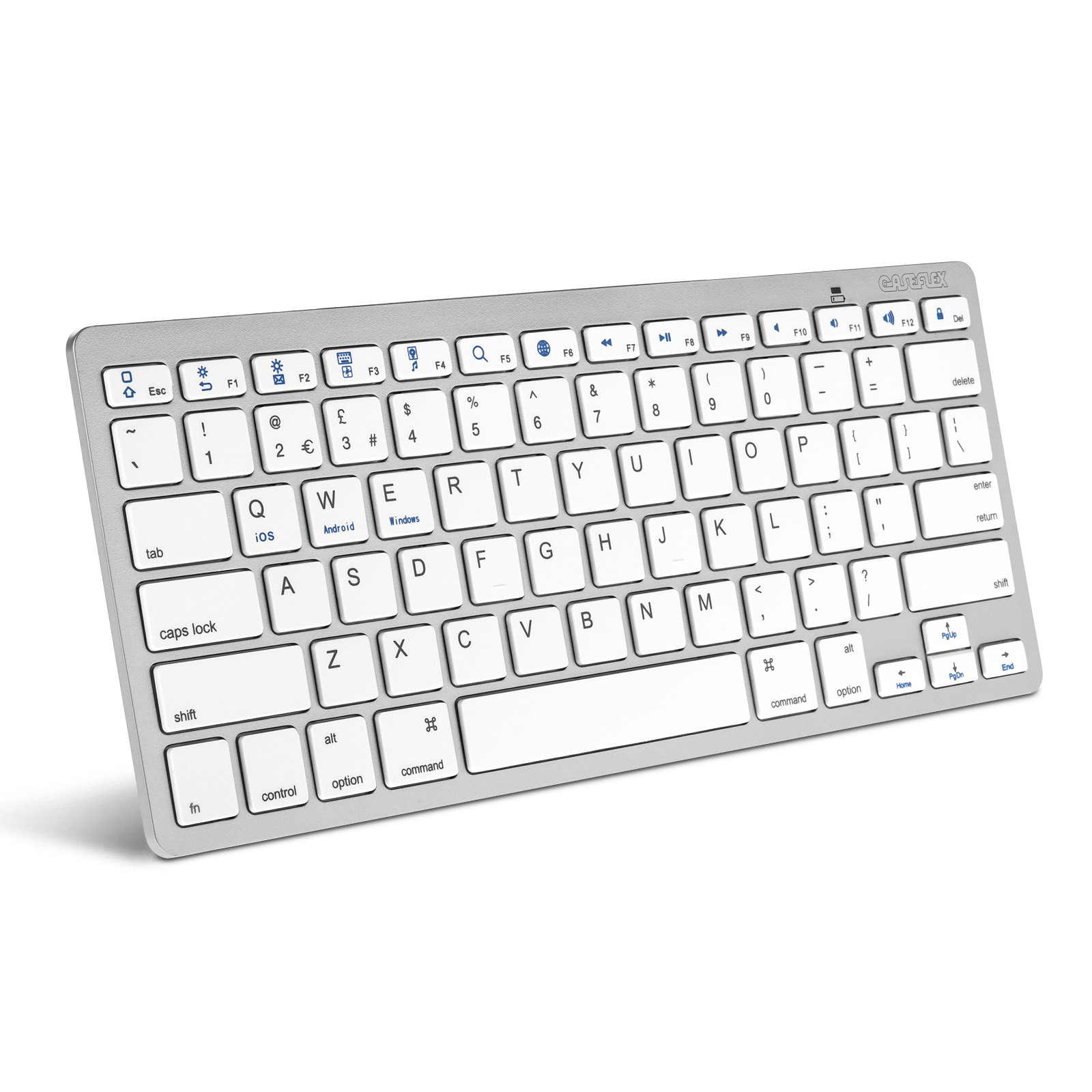 caseflex ultra slim wireless universal bluetooth keyboard. Black Bedroom Furniture Sets. Home Design Ideas