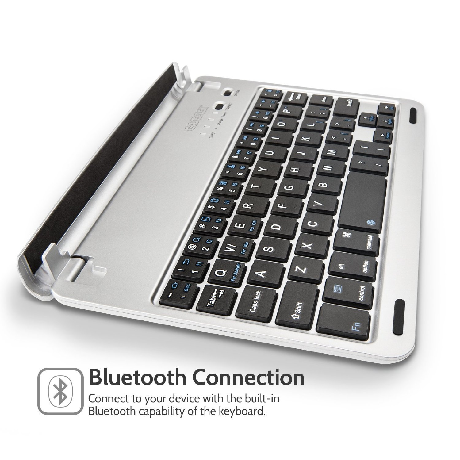 b48550110c8 Make image full screen · Caseflex Ultra Thin Silver Bluetooth Keyboard With Magnetic  Grip & Holding Stand ...