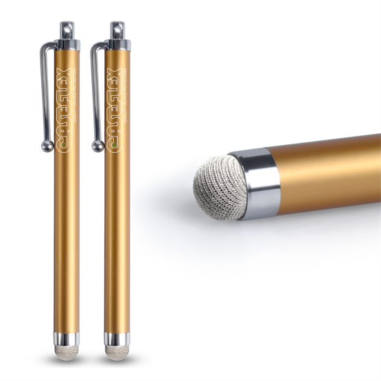 Caseflex Stylus Pen - Gold (Twin Pack)