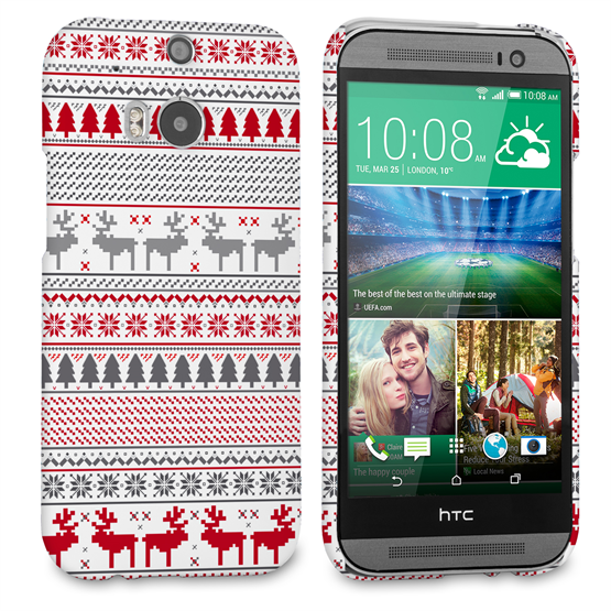 Caseflex HTC One M8 Fairisle Reindeer Christmas Jumper