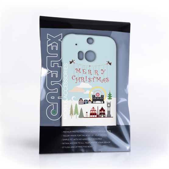 Caseflex HTC One M8  Merry Christmas Pattern Hard Case