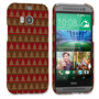 Caseflex HTC One M8 Christmas Tree Knit Jumper Hard Case - Brown / Red