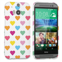 Caseflex HTC One M8 Polka Hearts Pastel Case