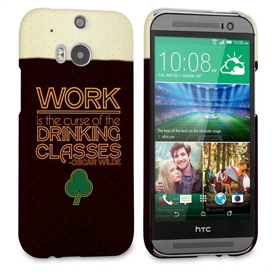 Caseflex HTC One M8 Wilde Drinking Classes Quote Hard Case - Black