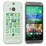 Caseflex HTC One M8 Wilde Stars Quote Hard Case – White and Green