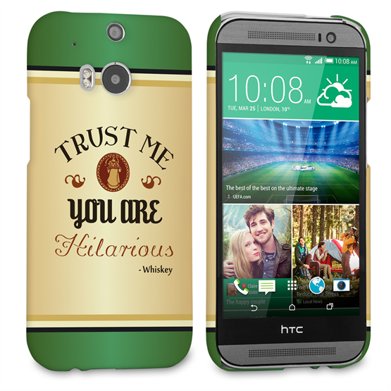 Caseflex HTC One M8 Irish Whiskey Quote Hard Case – Green