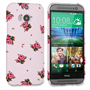Caseflex HTC One M8 Vintage Roses Polka Dot Wallpaper Hard Case – Pink