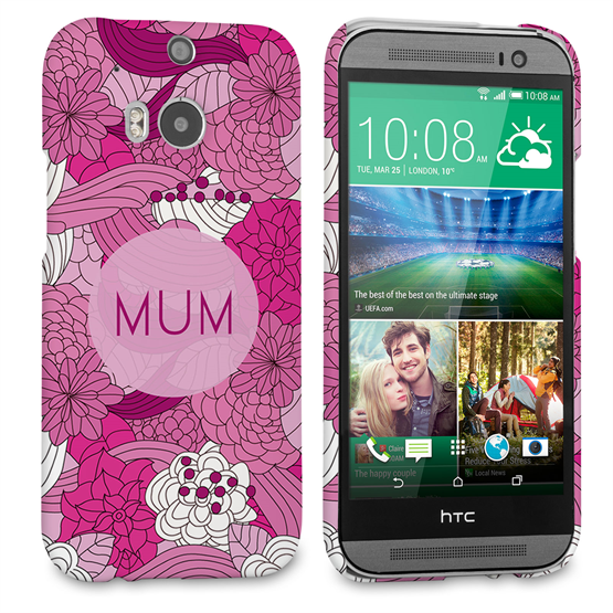Caseflex HTC One M8 Retro Swirl Mum Case – Pink