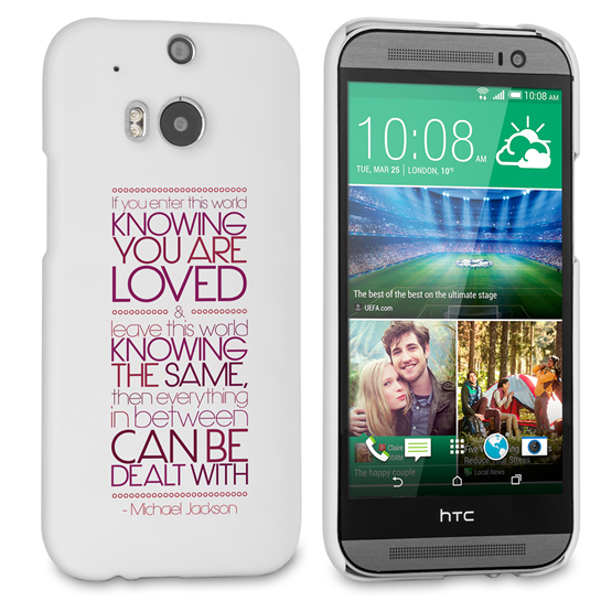 Caseflex HTC One M8 Michael Jackson Quote Case