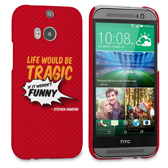 Caseflex HTC One M8 Stephen Hawking Quote Case