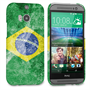 Caseflex HTC One M8 Retro Brazil Flag Case