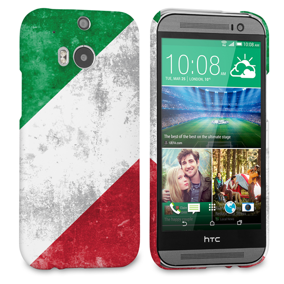 Caseflex HTC One M8 Retro Italy Flag Case