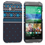 Caseflex HTC One M8 Fairisle Case – Grey and Blue Half Pattern