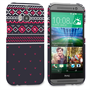 Caseflex HTC One M8 Fairisle Case – Grey and Red Half Pattern