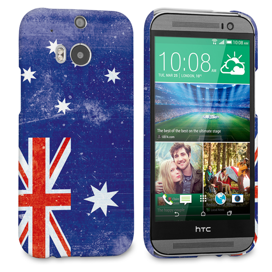 Caseflex HTC One M8 Retro Australia Flag Case