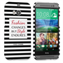 Caseflex HTC One M8 Chanel 'Fashion Changes' Quote Case – Black and White